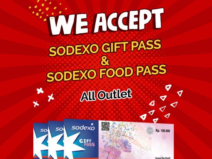 Gokana Ramen & Teppan menerima voucher Sodexo Gift Pass dan Sodexo Food Pass